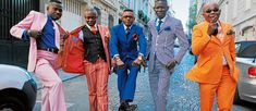 Kinshasa Sapeurs showing off their styles