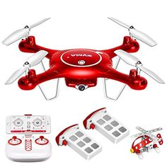 Syma X5UW Wifi FPV 720P HD Camera Quadcopter Drone with Flight Plan Route App Control & Altitude Hold Function With Extra Battery -- You can find more details by visiting the image link.