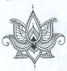 f7f9724a5 Cool Heena Lotus Flower Tattoo Stencil By Ashinetoit Lotus Henna, Henna  Ink, Lotus Tattoo