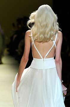 J.Mendel Fall 2014 white backless dress #minimalist #fashion #style