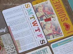 I love the Days of the Week card, and I love the 2 small photos on the vertical 4x6 card.