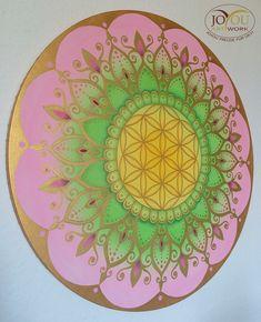 "Nochmal Frühling :-)  ""Frühling"" Mandala, handgemalt mit Pastellkreide und Acryl auf Leinwand Ø ca. 60 cm Beach Mat, Outdoor Blanket, Artwork, Mandalas, Canvas, Work Of Art, Auguste Rodin Artwork, Artworks, Illustrators"