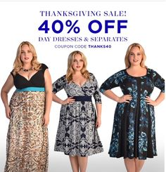 Have you shopped out Thanksgiving Sale yet? Get 40% Off Day Dresses and Separates with the code THANKS40! (Click the photo to be directed to the sale)   #igigi #igigistyle #plus #plussize #plussizefashion #plusisequal #curvy #curvycommunity #embraceyourcurves #curvygirl #sale #plussizesale #coupon #couponcommunity #maxidress #effyourbeautystandards #thisisplus