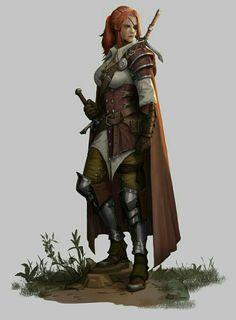 Female Fighter Warrior - Pathfinder PFRPG DND D&D d20 fantasy