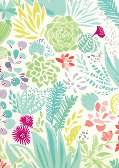 Fabric from Canyon collection, designed by Kate Spain || print & pattern: FABRICS - moda