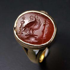 A Roman Carnelian Intaglio of an Imperial Eagle, ca 1st century AD