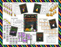 Bewitching Halloween {Math & Literacy Centers}