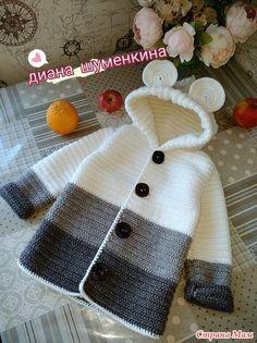 Baby Knitting Patterns Sweaters Crochet Baby Bear Sweater Free Pattern P - Crochet Baby Bear Sweater - . How to Crochet a Bear - Crochet Ideas Haak Baby Bear trui Gratis patroon P - haak Baby Bear trui - . Crochet Baby Sweater Pattern, Crochet Baby Sweaters, Baby Sweater Patterns, Crochet Baby Cardigan, Crochet Coat, Baby Girl Crochet, Crochet Baby Clothes, Crochet Jacket, Baby Knitting Patterns