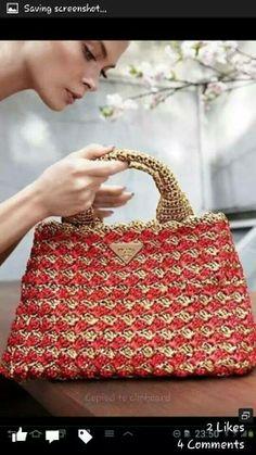 crochet handbag 1/2