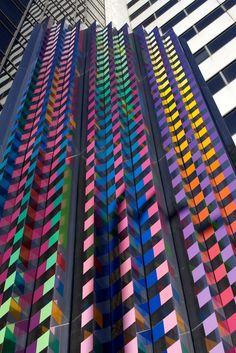 Yaacov Agam Yaacov Agam, Chicago Poster, Subtractive Color, Concrete Art, Jewish Art, Outdoor Art, Abstract Sculpture, Op Art, Public Art