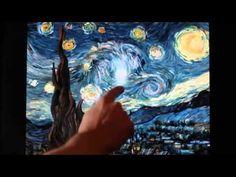 Van Gogh's Starry Night interactive animation SD VIDEO CLIL PRINTABLE En...