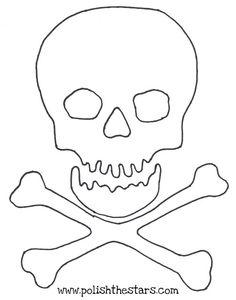 Le dessin d'un drapeau de pirate orné de tête de mort et