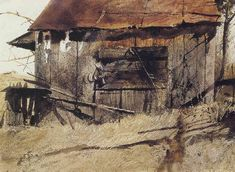 Tom's shed by Andrew Wyeth