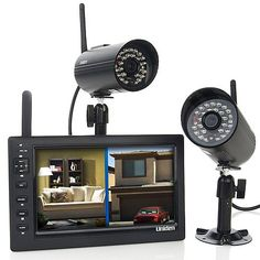 "Uniden UDS655 7"" LCD Wireless 2-Camera Video Security"