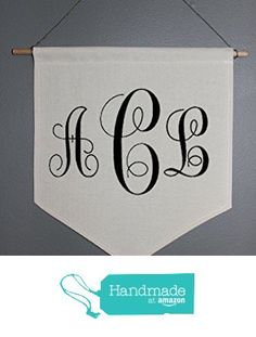 Personalized Monogram Canvas Wall Pennant from Create Your Joy http://www.amazon.com/dp/B01A92RQSW/ref=hnd_sw_r_pi_dp_T2wJwb07QZYW8 #handmadeatamazon