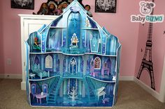Disney Frozen Snowflake Mansion Ice Castle Doll House Review and Video by Junior Gizmo.