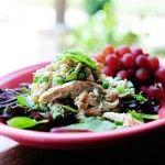 Pioneer woman lemon basil chicken salad - on a roll, over greens, or right out of a bowl!