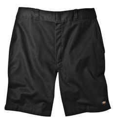 "Dickies 42234 8"" Relaxed Fit Traditional Flat Front Short-Black-30"