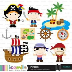 Pirates Digital Clipart by IcemiloClipart on Etsy, $4.50