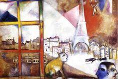 1913 Marc Chagall Paris a travers la fenetre