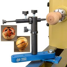 "Carter Perfect Sphere Tool from Craft Supplies USA --- The Carter Perfect Sphere™ Tool allows you to turn spheres from 1"" to 14"" diameter depending on your lathe capacity. This system can be used on lathes ranging from 10"" to 25"" diameter capacity. #woodturning #project #sphere"
