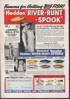 1940 Heddon River Runt Spook ad.