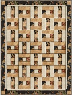The Porch Rail pattern is another popular 3 yard quilt from Fabric Cafe. This x 60 inch quilt is a great gift quilt for veterans. Easily made in 6 to 8 hours, this pattern has all the instructions for cutting and assembly of the quilt top. Patchwork Quilting, Jellyroll Quilts, Lap Quilts, Strip Quilts, Scrappy Quilts, Quilt Blocks, Hand Quilting, Quilt Boarders, Machine Quilting