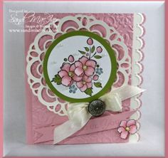 Bordering on romance stamp set by stampin up card by sandi maciver
