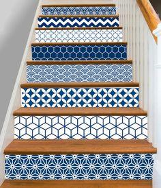 15steps Stair Riser Vinyl Strips Removable Sticker Peel U0026