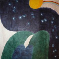 Carol Summers Nightfall, 1974 Mark Making, Printmaking, Dinosaur Stuffed Animal, Kids Rugs, Fine Art, Contemporary, Abstract, Paintings, Summer