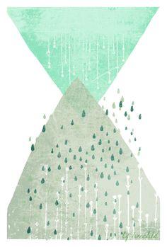 Digitaldruck - ▲Druck 'Rain' 20x30cm ▲ - ein Designerstück von TreeChild bei DaWanda