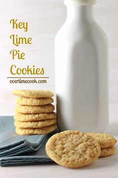 Key Lime Pie Cookies on Overtime Cook. I like a bit of sour or other flavors in my cookies rather than just sweet