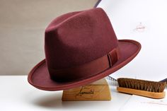 a29926e4afd Carefully blocked and finished entirely by hand. At a glance  - Classic  fedora hat