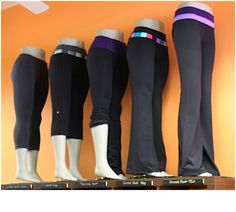 lululemon display of leggings on mannequin legs like the ones we have at mannequinmadness Lulu Lemon, Workout Gear, Workout Pants, Fun Workouts, Wod Gear, Workout Outfits, Mannequin Legs, Lululemon Pants, Lululemon Clothing