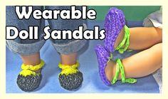 Rainbow Loom Charms Doll Sandals (Wearable,  AG Doll, DIY Mommy)