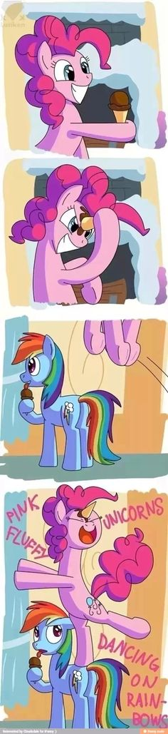 I saw where it was going, and totally didn't think it was funny, and the Rainbow Dash thing completely blindsided me. LOL Where did Rainbow Dash her wings go? My Little Pony Comic, My Lil Pony, Rainbow Dash, Pixar, Imagenes My Little Pony, Mlp Memes, Little Poni, Mlp Comics, Pinkie Pie