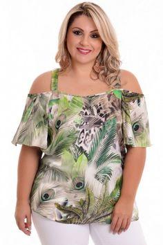 Blusa Plus Size Ciganinha Amazon