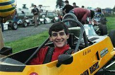 Ayrton Senna in his Van Diemen Formula Ford car in 1981