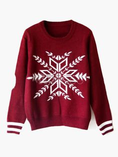 Long Sleeve Striped Cuff Christmas Sweater - Save Up to 70% Off on fabulous fashion trend products at Milano with Coupon and Promo Codes.