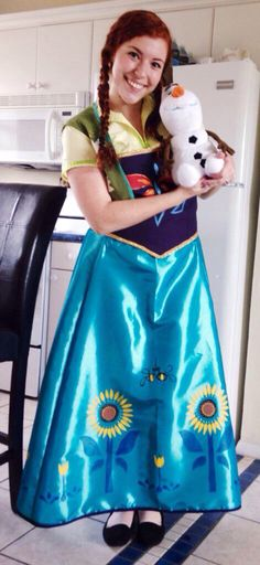 Annau0027s spring dress from frozen fever. Adult costume.  sc 1 st  Pinterest & 42 best Frozen party costumes for adults images on Pinterest ...