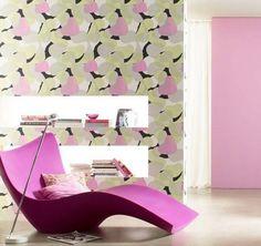 Carta da parati con disegni astratti - Carta da parati di design con fiori rosa astratti
