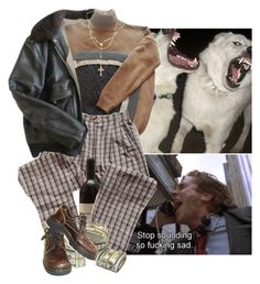 """""""hold my hand a**hole"""" by ap0llyn ❤ liked on Polyvore featuring Schott NYC, Jean-Paul Gaultier, Dr. Martens, Child Of Wild and Lord & Taylor"""