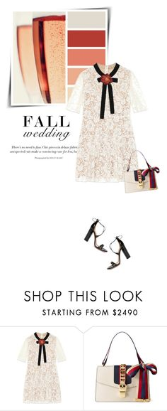 """Fall Wedding (Top Fashion Sets for Sep 10th, 2016)"" by sophiek82 ❤ liked on Polyvore featuring Seed Design, Gucci and Aquazzura"