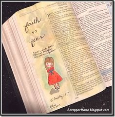 This concept has been on my heart for a couple of days—wanted to do a Bible page about it…most of my supplies are packed away, but I had a f. My Bible, Bible Art, Stir Up The Gift, Journal Inspiration, Journal Ideas, Spirit Of Fear, 2 Timothy, Illustrated Faith, Art Journaling