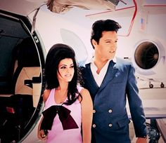 Priscilla & Elvis.  Love both their outfits!