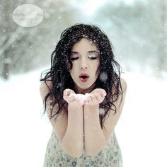 I want to do snow portraits like this.  But it would help if it wasn't so cold!