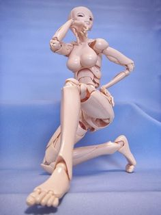 Doll flexible move S.F.B.T-3(SPECIAL FULL BODY TYPE 3) This doll amazing look ,it can move very flexible body part like a human natural.The  assemble body part more about 80 balls,it pretty same like human way move do. It is make very hard plastic,the shoulders,arms and also fingers,can move very impressive.The eyes and eyelids even can move rotatable way.This doll toy is manufactured in Japan by  Dolk Station,the prices is high at $300 US ,can order shipped internationally.