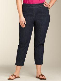 Talbots - Heritage Fit Cool Night Wash Crop Jean