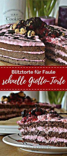 So schnell zaubert Ihr eine leckere Torte auf den Tisch. Den Wiener Boden kaufen oder selbst machen und mit einer fruchtigen Himbeer-Giotto-Creme füllen. Die Giottotorte ist einfach lecker. Das Rezept wie immer auf meinem Blog. #nakedcake #giottotorte #himbeertorte