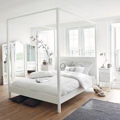 feng shui bett himmelbett schlafzimmer farben weiß   Schlafzimmer ...
